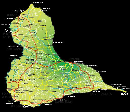 Carte de Grante-Terre Guadeloupe
