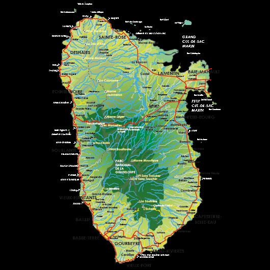 Carte de la Basse-Terre