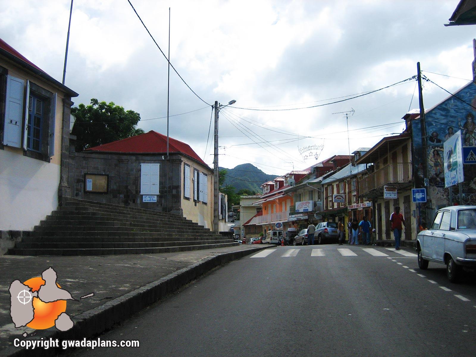 Ville de Basse-Terre : Rue de l'église