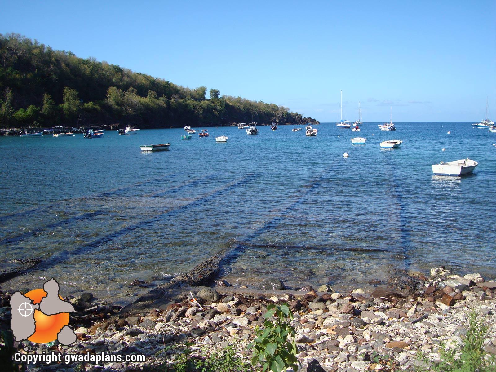 Rails de sortie de bateaux à l'Anse à la Barque
