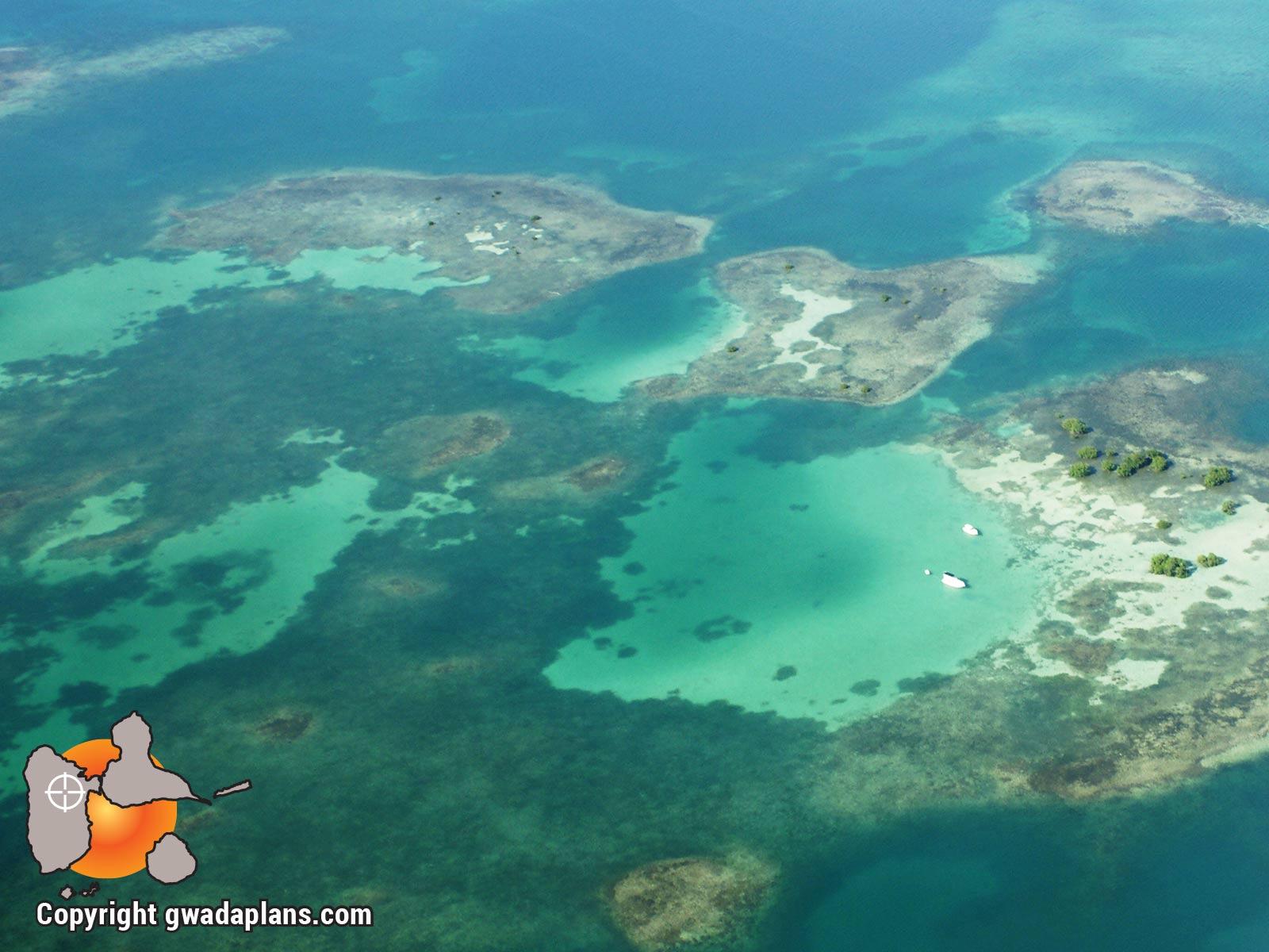 La réserve marine vue du ciel