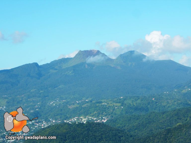 Massif du volcan La Soufrière de Guadeloupe