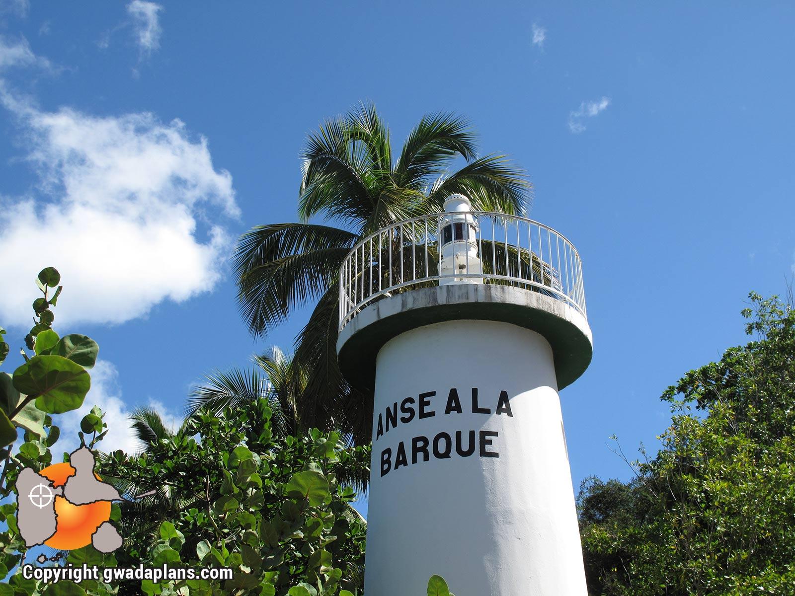 Le phare de l'Anse à la Barque, coté Vieux Habitants