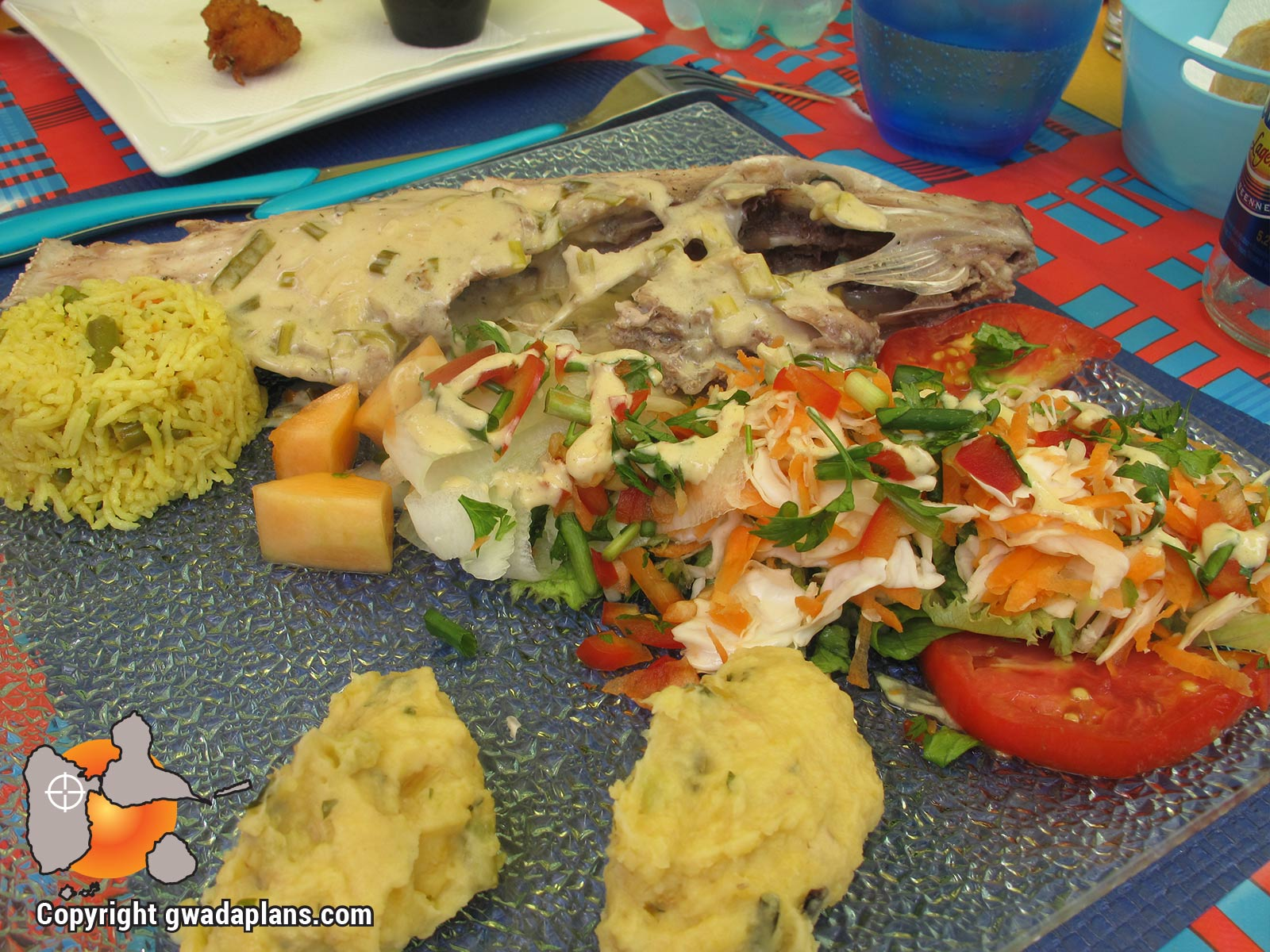 Poisson gratin de racines - Gastronomie Guadeloupe