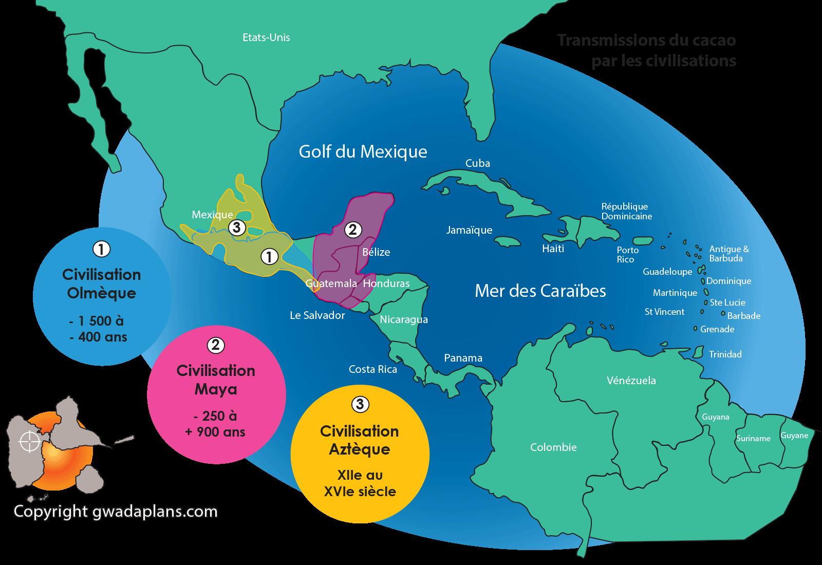 Cacao - civilisations olmèque, maya et aztèque