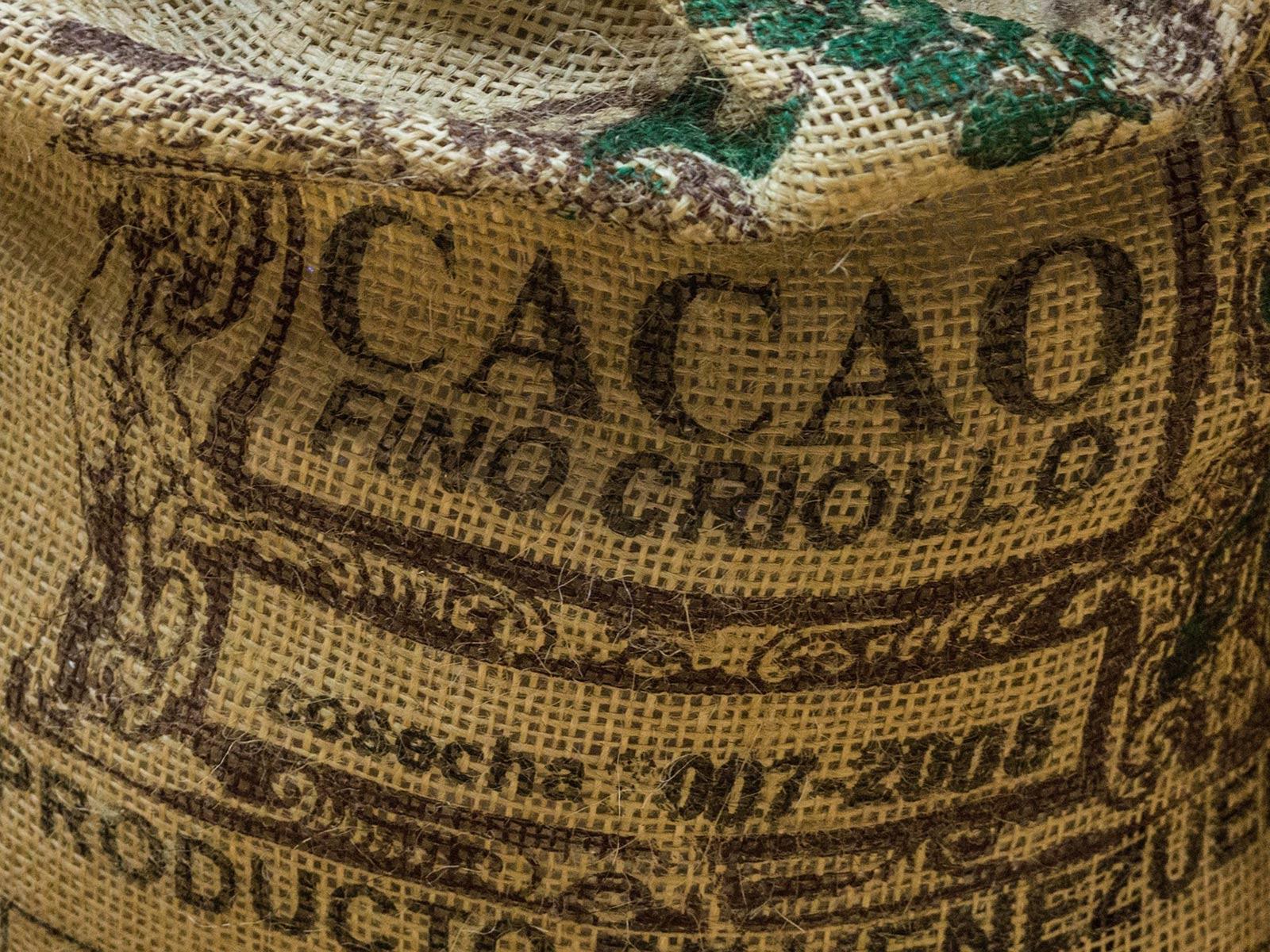 Sac de cacao pour l'exportation