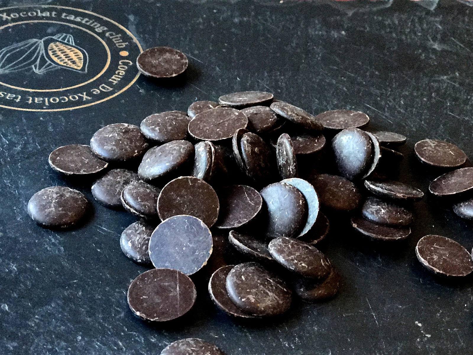 Pastille de cacao pour pâtisserie