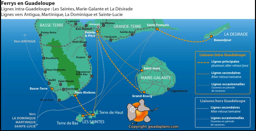 Liaisons des ferrys en Guadeloupe