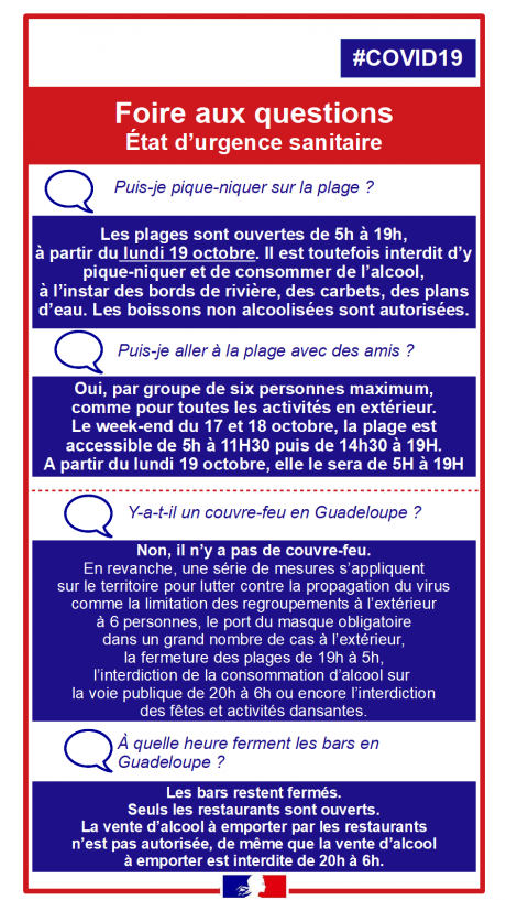 Instructions COVID Guadeloupe 1